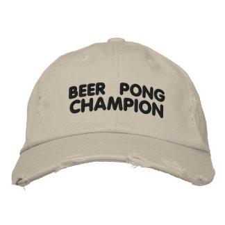 Campeón de Pong de la cerveza Gorra De Béisbol Bordada