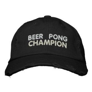 Campeón de Pong de la cerveza Gorra De Beisbol Bordada