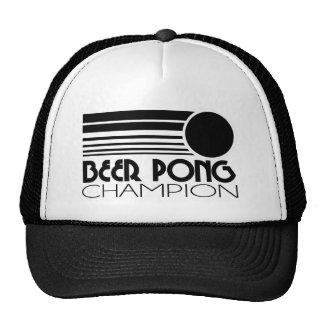 Campeón de Pong de la cerveza Gorras