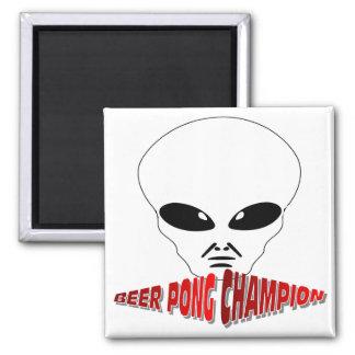 Campeón de Pong de la cerveza Imán Cuadrado