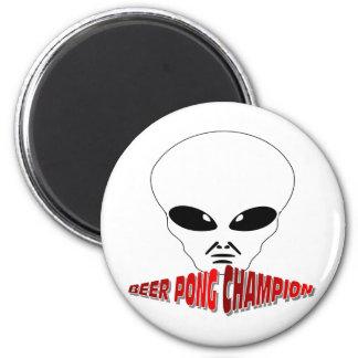 Campeón de Pong de la cerveza Imán Redondo 5 Cm