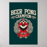 Campeón de Pong de la cerveza Impresiones