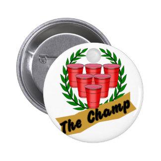 Campeón de Pong de la cerveza Pin Redondo De 2 Pulgadas