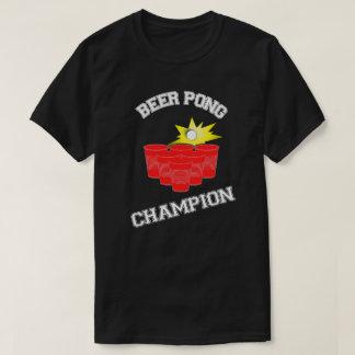 Campeón de Pong de la cerveza Remeras