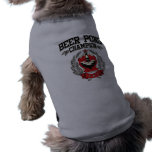 Campeón de Pong de la cerveza Ropa Para Mascota