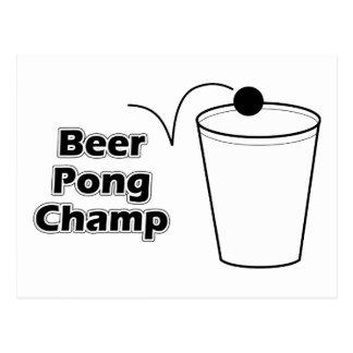 Campeón de Pong de la cerveza Postal
