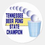 Campeón de Pong de las azufaifas de Tennessee Etiqueta Redonda