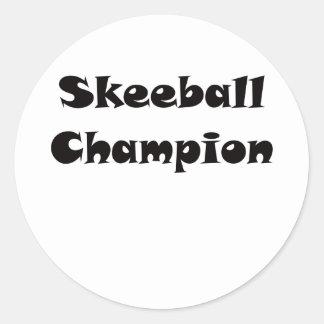 Campeón de Skeeball Pegatina Redonda