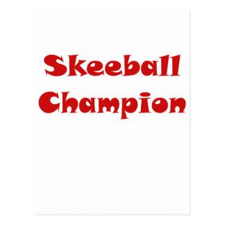 Campeón de Skeeball Tarjetas Postales