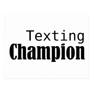 Campeón de Texting Tarjeta Postal