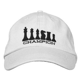 Campeón del ajedrez gorra bordada