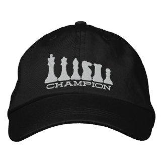 Campeón del ajedrez gorra de beisbol