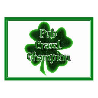 Campeón del arrastre de Pub Tarjetas De Visita Grandes