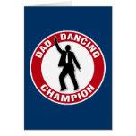 Campeón del baile del papá - tarjeta divertida del