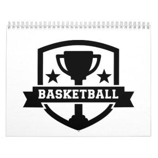 Campeón del baloncesto calendario de pared