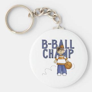 Campeón del baloncesto llavero redondo tipo pin