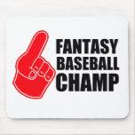 Campeón del béisbol de la fantasía tapete de ratones