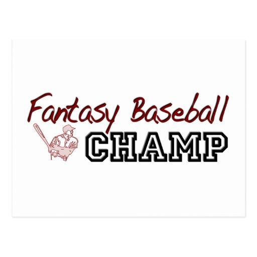 Campeón del béisbol de la fantasía tarjetas postales
