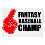 Campeón del béisbol de la fantasía tarjetón