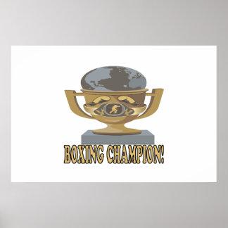 Campeón del boxeo poster