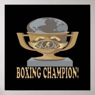 Campeón del boxeo posters