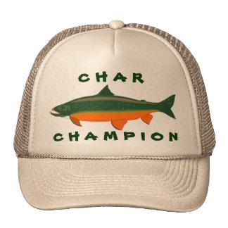 Campeón del carbón de leña gorras de camionero