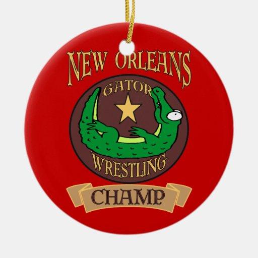 Campeón del cocodrilo de New Orleans Adorno