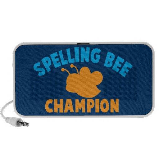 Campeón del concurso de ortografía altavoces de viajar