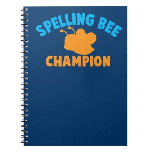 Campeón del concurso de ortografía cuaderno