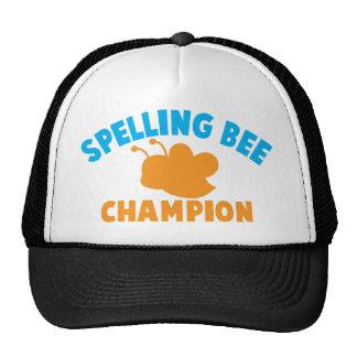 Campeón del concurso de ortografía gorro