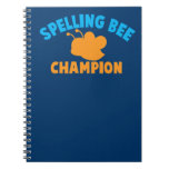 Campeón del concurso de ortografía libros de apuntes con espiral