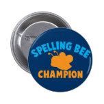 Campeón del concurso de ortografía pin