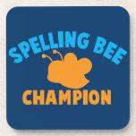 Campeón del concurso de ortografía posavasos de bebida