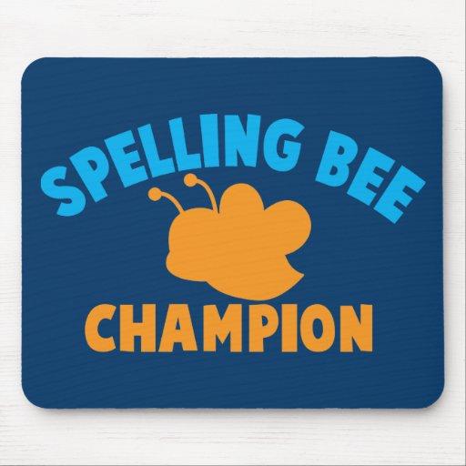 Campeón del concurso de ortografía alfombrillas de raton
