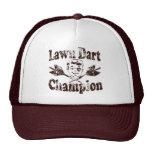 Campeón del dardo del césped gorra