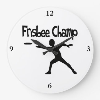 Campeón del disco volador reloj redondo grande