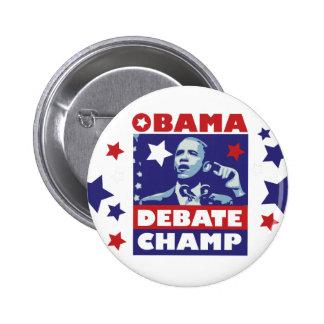 Campeón del discusión de Barack Obama Pins
