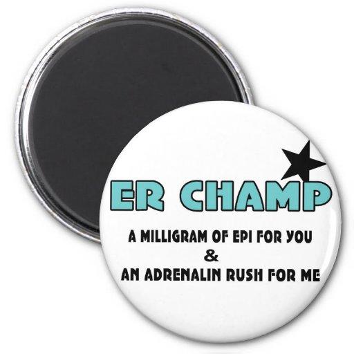 Campeón del ER Imán Para Frigorífico