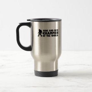 Campeón del escondite del mundo el | Sasquatch Tazas De Café