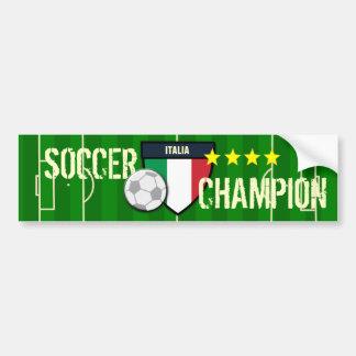 Campeón del fútbol de Italia Italia Pegatina Para Auto