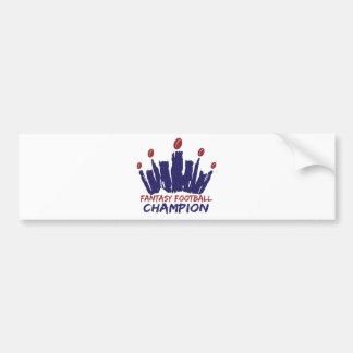 Campeón del fútbol de la fantasía pegatina para auto