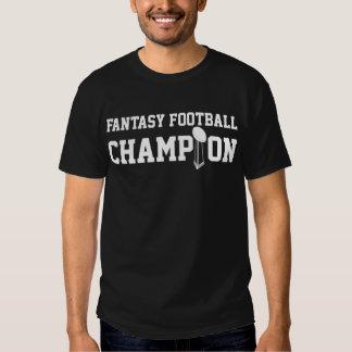 Campeón del fútbol de la fantasía camisas