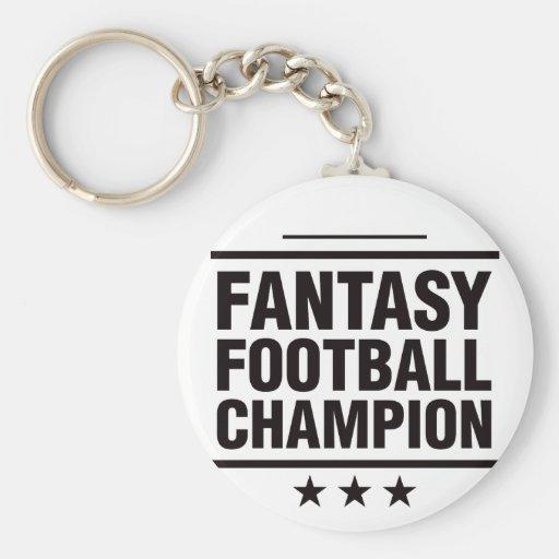 ¡Campeón del fútbol de la fantasía! Llavero Redondo Tipo Pin