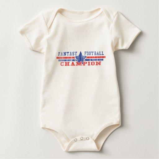 Campeón del fútbol de la fantasía mameluco de bebé