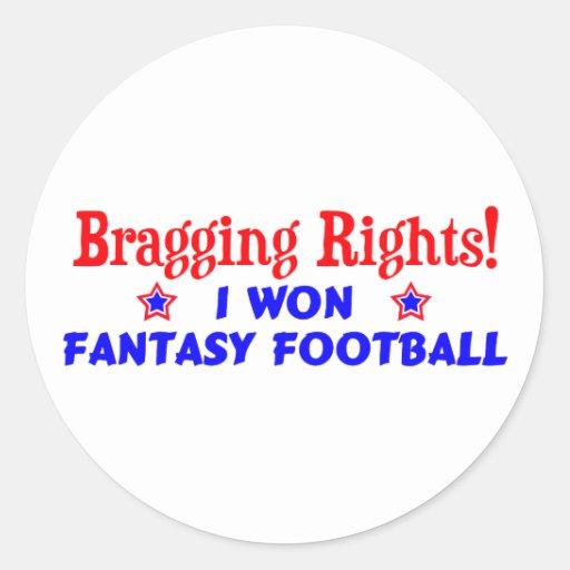 Campeón del fútbol de la fantasía pegatina redonda