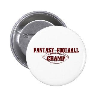 Campeón del fútbol de la fantasía pin