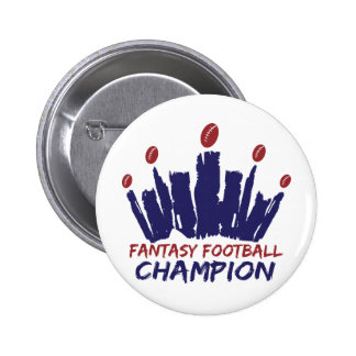 Campeón del fútbol de la fantasía pin redondo 5 cm