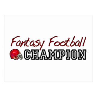 Campeón del fútbol de la fantasía postales