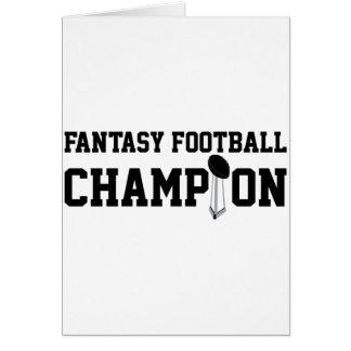Campeón del fútbol de la fantasía felicitacion