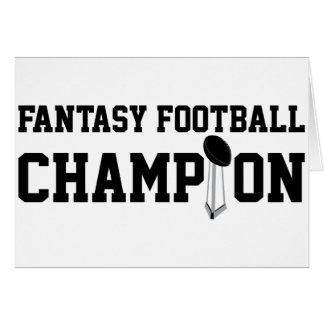 Campeón del fútbol de la fantasía tarjetas